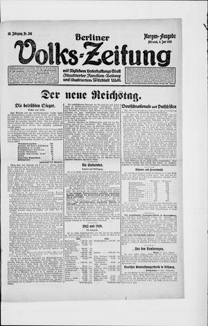 Berliner Volkszeitung vom 09.06.1920