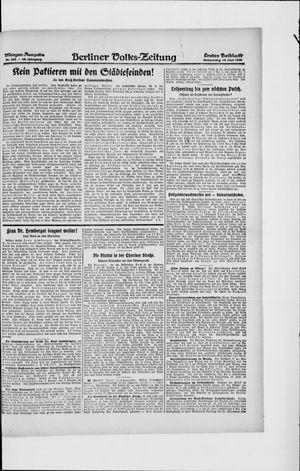 Berliner Volkszeitung vom 10.06.1920