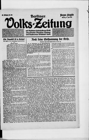 Berliner Volkszeitung vom 15.06.1920