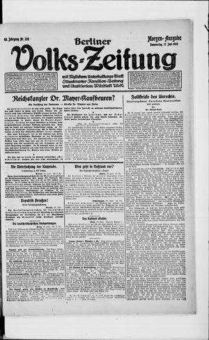Berliner Volkszeitung vom 17.06.1920