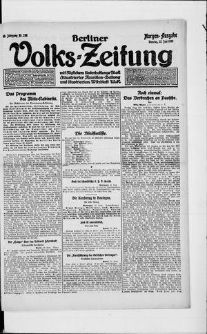 Berliner Volkszeitung on Jun 22, 1920