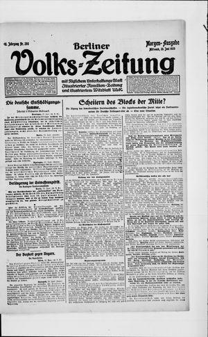 Berliner Volkszeitung vom 23.06.1920