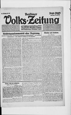 Berliner Volkszeitung on Jun 24, 1920