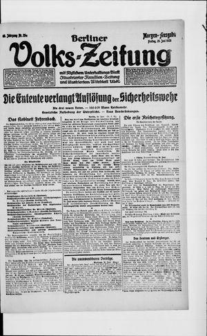 Berliner Volkszeitung vom 25.06.1920
