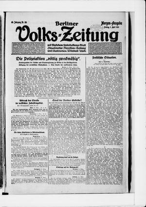 Berliner Volkszeitung vom 01.04.1921