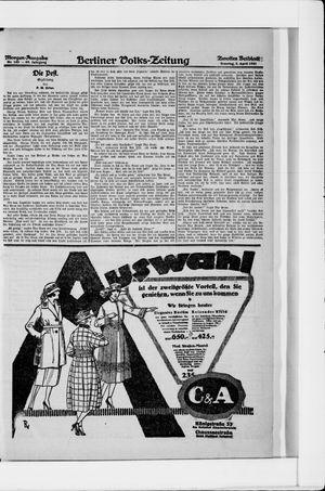 Berliner Volkszeitung vom 03.04.1921