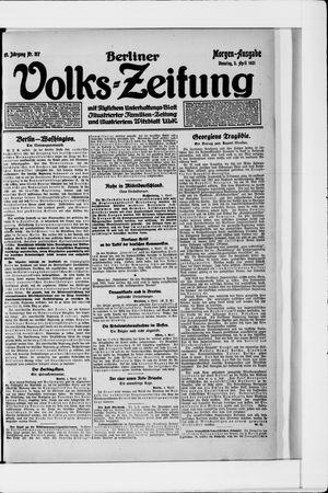Berliner Volkszeitung vom 05.04.1921
