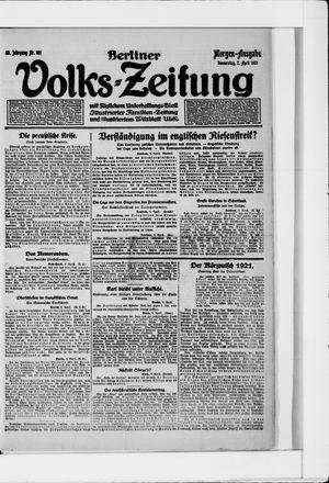 Berliner Volkszeitung vom 07.04.1921
