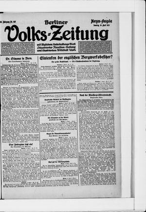 Berliner Volkszeitung vom 10.04.1921