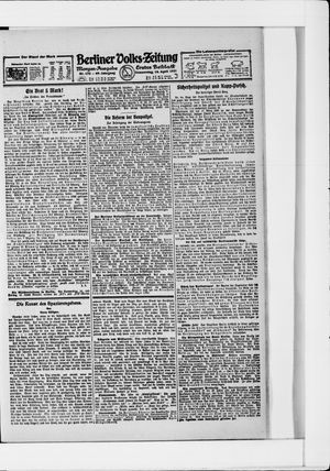 Berliner Volkszeitung vom 14.04.1921