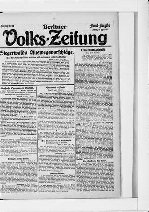 Berliner Volkszeitung vom 15.04.1921