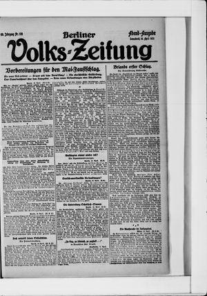 Berliner Volkszeitung vom 16.04.1921