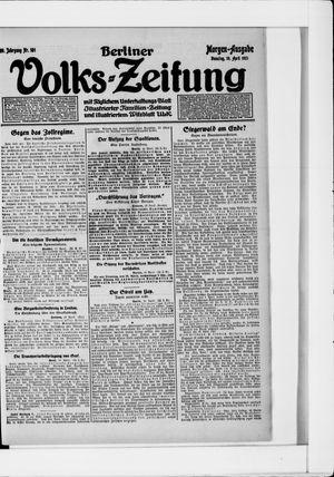 Berliner Volkszeitung vom 19.04.1921