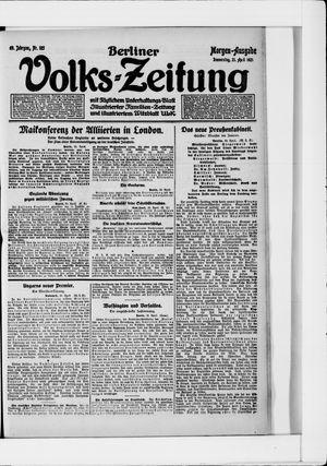 Berliner Volkszeitung vom 21.04.1921
