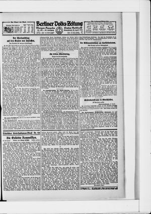 Berliner Volkszeitung vom 23.04.1921