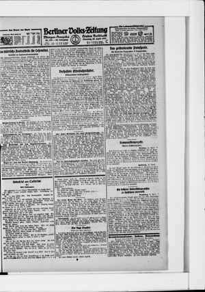 Berliner Volkszeitung vom 26.04.1921