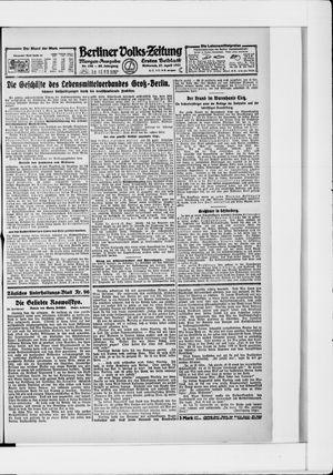 Berliner Volkszeitung vom 27.04.1921