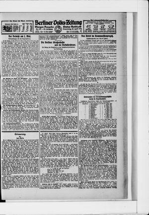Berliner Volkszeitung vom 28.04.1921