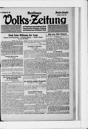 Berliner Volkszeitung vom 29.04.1921