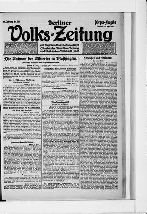 Berliner Volkszeitung vom 30.04.1921