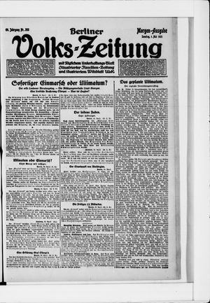 Berliner Volkszeitung vom 01.05.1921