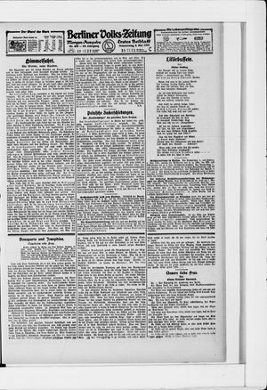 Berliner Volkszeitung vom 05.05.1921