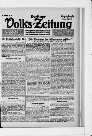 Berliner Volkszeitung vom 10.05.1921