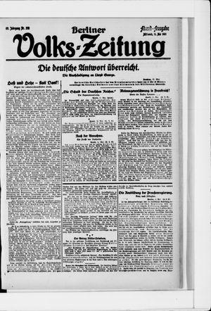 Berliner Volkszeitung vom 11.05.1921