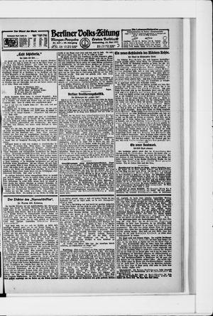 Berliner Volkszeitung vom 12.05.1921