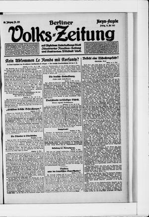 Berliner Volkszeitung vom 13.05.1921