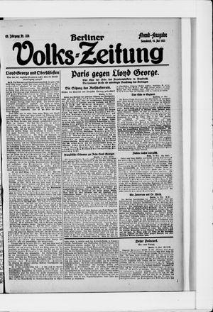 Berliner Volkszeitung on May 14, 1921