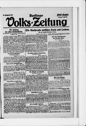 Berliner Volkszeitung vom 17.05.1921