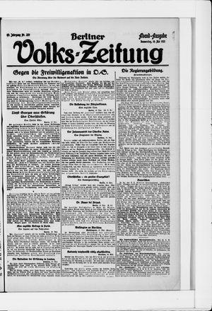 Berliner Volkszeitung vom 19.05.1921