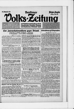 Berliner Volkszeitung vom 20.05.1921