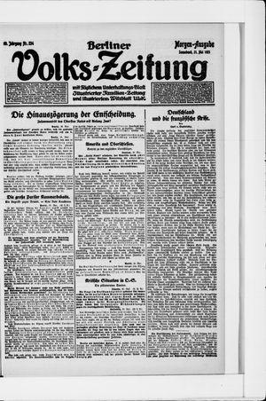 Berliner Volkszeitung vom 21.05.1921