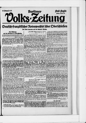 Berliner Volkszeitung vom 23.05.1921