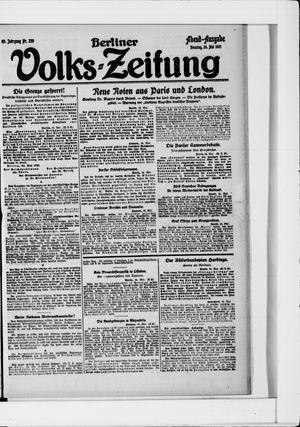 Berliner Volkszeitung on May 24, 1921
