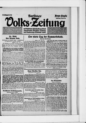 Berliner Volkszeitung vom 26.05.1921