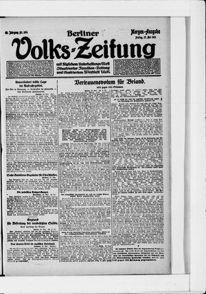 Berliner Volkszeitung on May 27, 1921