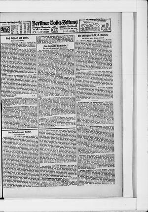 Berliner Volkszeitung vom 28.05.1921