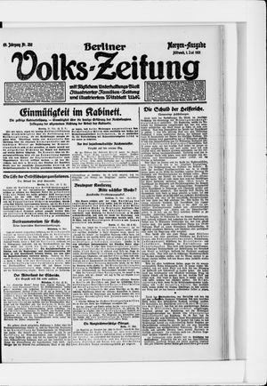 Berliner Volkszeitung vom 01.06.1921