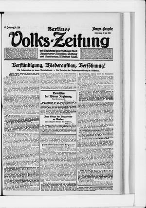 Berliner Volkszeitung vom 02.06.1921