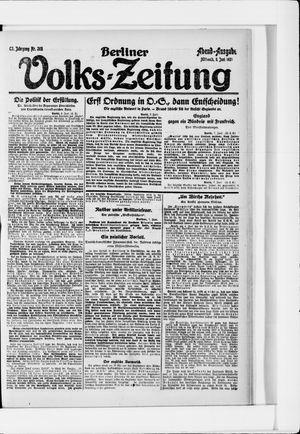 Berliner Volkszeitung vom 08.06.1921