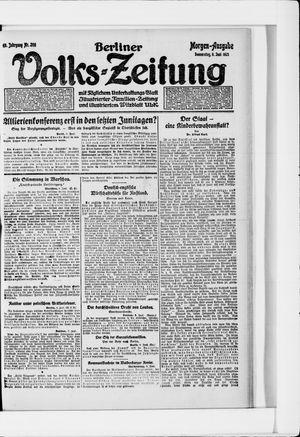 Berliner Volkszeitung vom 09.06.1921