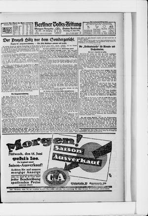 Berliner Volkszeitung vom 14.06.1921