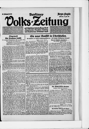 Berliner Volkszeitung vom 15.06.1921