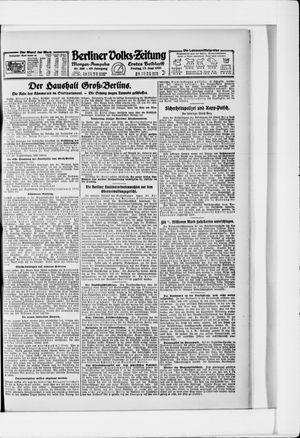 Berliner Volkszeitung vom 17.06.1921