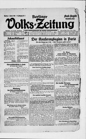 Berliner Volkszeitung vom 02.01.1923
