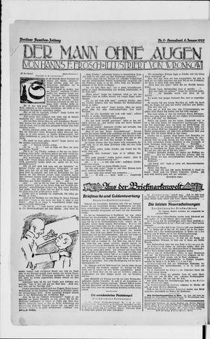 Berliner Volkszeitung vom 06.01.1923