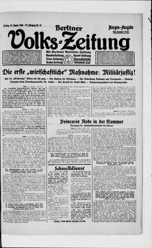 Berliner Volkszeitung on Jan 12, 1923